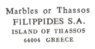 fillipides marbles of thasos